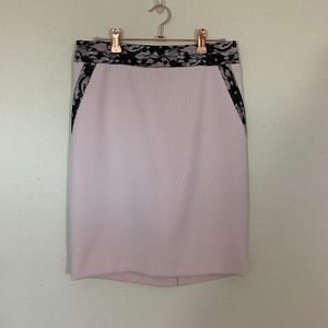 The Limited Blush and Lace Pencil Skirt